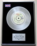 WHITESNAKE - DON'T BREAK MY HEART AGAIN PLATINUM single presentation Disc